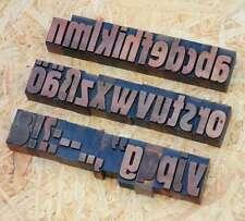 a-z Buchstaben 36 mm alte Plakatlettern Buchstaben Lettern Buchstabenstempel