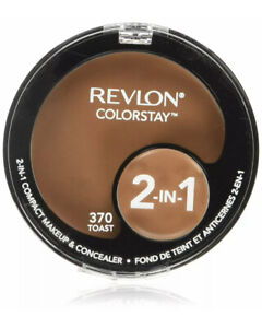 REVLON COLORSTAY 2 IN 1 Compact Makeup And Concealer # 370 Toast