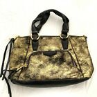 Aimee Kestenberg Beal Gold Distressed Leather Bag  Black leather with distressed