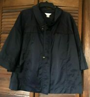 CJ Banks 3/4 sleeve navy blue jacket-Women's 2X-NWOT