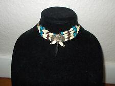 NATIVE AMERICAN Handmade Multi-Color Beaded Choker Necklace