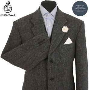 Harris Tweed Jacket Blazer 44R Herringbone Weave Hacking Sports BARUTTI EDITION