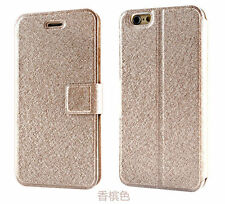 Luxury Wallet Silk Leather Stand Flip case cover for iPhone 4S 5 5S 5C 6 Plus