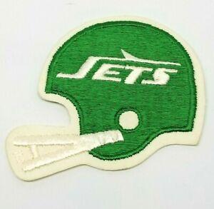 "Vintage 1980's 3"" x 3.5"" New York Jets Helmet Embroidered Patch NFL"