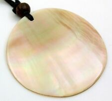 Natural Mother of Pearl Shell Pendant Adjustable Cord necklace Jewelry AA073