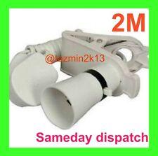 2x Clip on Main Spot Light for Loft Garage Car Plug in Lamp Bulb
