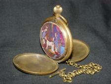 Alte Mechanisch Uhren Taschenuhren mit Klassisches Bild, Kette, Verpackungsbox *