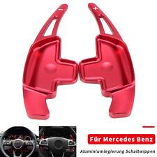 Schaltwippen Verlängerung Lenkrad Paddle für Mercedes B E C Klasse CLA SLC Rot