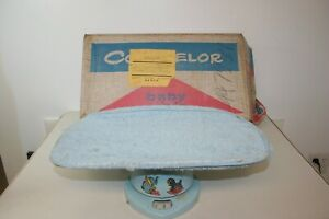Vintage Counselor Metal Baby Scale 50s Original Box Baby Room Decor