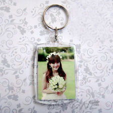 Clear Acrylic Plastic Blank Keyrings Photo Key Rings 40*27mm Insert Personalise