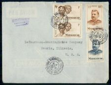 MADAGASCAR AD 1955 COVER TANANARIVE SOCIMEX VERTICAL PAIR kkm76641