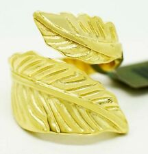 DOUBLE FEATHER RING 14K SOLID YELLOW GOLD* New With Tag  *MADE IN USA * 10.4 Grs