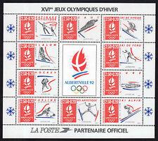 FRANCE FRANCIA 1992 Bloc XVI° Jeux Olympiques d'Hiver MNH**
