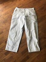 Columbia Men's Cotton Light Khaki Chino Pants Active Hiking Outdoor Sz 38W x 32L