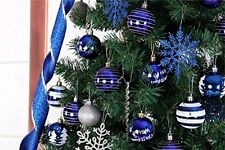 24pcs Baubles Xmas Tree Christmas Ornament Balls Party Hanging Decor Decorations