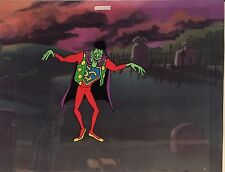 Groovy Goolies Frankenstein Original Production Cel with Printed Background