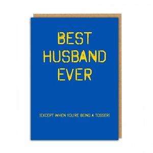 BEST HUSBAND EVER TOSSER - FUNNY RUDE BIRTHDAY CARD HUSBAND LAUGH BANTER