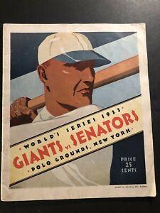 1933 WORLD SERIES Program NEW YORK Giants vs WASHINGTON Senators HUBBELL Mel OTT