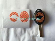 Carbon Orange Folie Dekor Schlüssel Key Cooper JCW S Mini R53 John Works