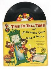 Vintage 1950's Time to Tell Time. Cricket Records Vinyl 45rpm