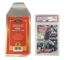500 CBG Max Pro Perfect Fit Graded Card Sleeves Snug Fit PSA Size Super Clear