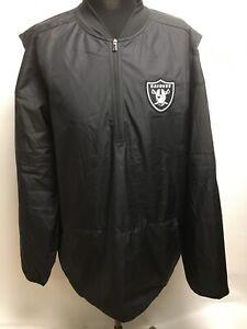 NWOT NFL Oakland Raiders Nike Dri-Fit Repel Lockdown 1/2 Jacket Men's XL 9284