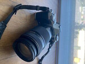Olympus OM-D E-M5 Mark II Camera Body (Silver) with Olympus 75-300mm Lens