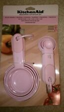 Kitchenaid Classic Plastic Measuring Cups and Spoons Set Pink NEW!