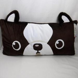 "Puppy Dog Pillow Zoo Piloo Brown 30""x15"" Naptime Grandma Sleep Over Plush"