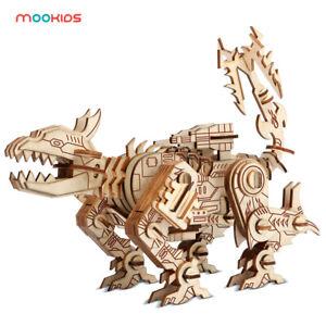 3D wooden puzzle Transformer Robot Dog DIY Laser Cut Jigsaw Wooden 3D Model