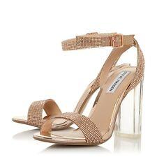 STEVE MADDEN Crysler crystal-embellished block heel sandals UK6