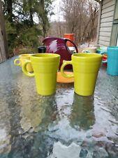 set 2 LATTE MUG CUP lemongrass FIESTA WARE new