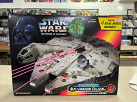 STAR WARS POWER OF THE FORCE ELECTRONIC MILLENNIUM FALCON MIB 1997 KENNER