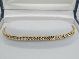 18ct Solid Yellow Gold Flat Curb Link Bracelet Preloved 7.6g RRP $1490