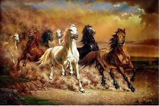 """MODERN HUGE WALL ART OIL PAINTING ON CANVAS""""Majestic Horse""""(no framed)"""