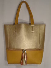 RELIC AVONDALE NS TOTE MUSTARD YELLOW & GOLD LARGE PURSE SHOPPER CARGO BAY