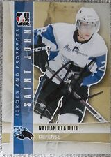 Montreal Canadiens Nathan Beaulieu Signed 11/12 ITG H&P Card Auto