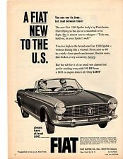 1964 FIAT 1500 SPIDER  -  BODY BY PININFARINA  ~  NICE ORIGINAL PRINT AD