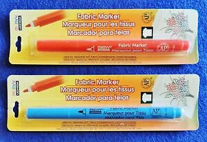 1 Fabric Marker Permanent Pigmented Ink Choose Red or Blue Water Resistant NIP