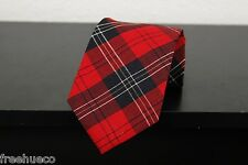 Vintage PENDLETON Red Black Multi Plaid Argyle Wool Men's Necktie Tie Old Stock!