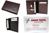 Men's Front Pocket ID Case Wallet Leather Business Card Holder with Gift Box