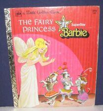 """Little Golden Book """"SUPERSTAR BARBIE, FAIRY PRINCESS"""" """"1st""""  #162 - original bk#"""
