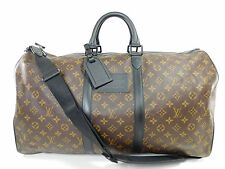 AUTH Louis Vuitton Waterproof Keepall 55 Duffle Bag Strap Suitcase Travel J680