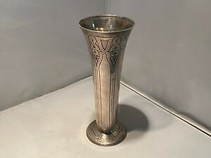Tiffany & Co. Sterling Silver Art Deco Trumpet Vase ca. 1920-30 STUNNING WOW!!!