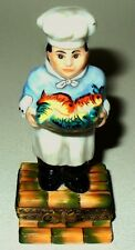 Limoges France Box -Elda- French Chef With A Platter Of Fish - Guy Buffet Style