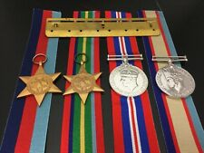 WWII Pacific Group of 4 1939-45 Star, Pacific star, War medal & ASM 1939-45