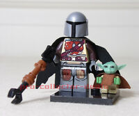 The Mandalorian & Baby Yoda Star Wars Minifigure +Stand Child Clone Wars FREESHP