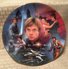 Star Wars Plate~Luke Skywalker~The Hamilton Collection 1996-Limited Edition-Coa
