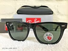 Ray-Ban Wayfarer Black Frame / G15 Green Polarized RB 2140 901/58 54mm
