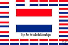 Assortiment lot de 10 autocollants Vinyle stickers drapeau Pays-Bas-Netherlands
